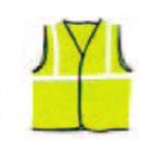 fabric plain reflective safety wests
